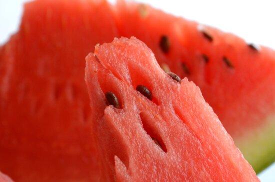 watermelon, red, seed, macro, food