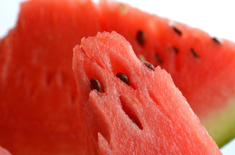Sandía, rojo, semilla, macro, comida