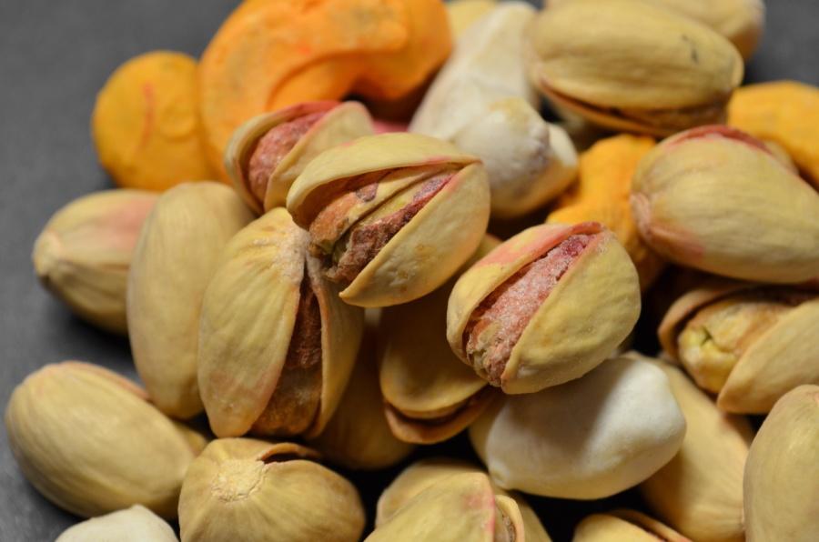 Seco, semilla, pistacho, detalle