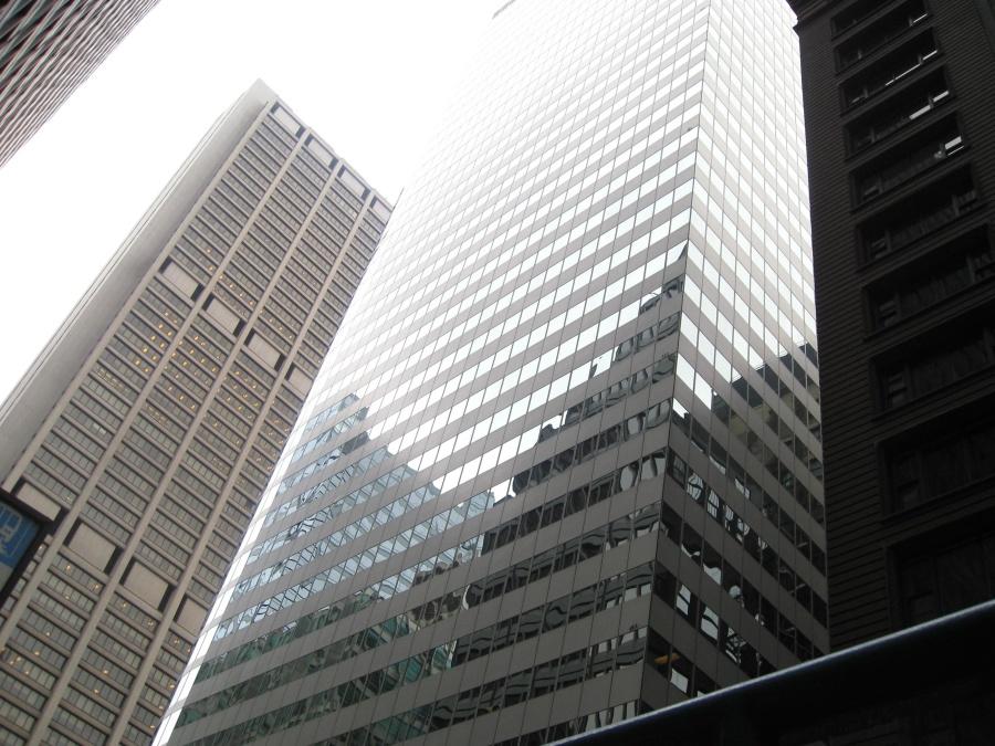 high building, exterior, modern, downtown, street
