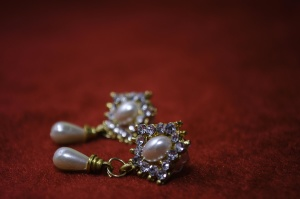 earrings, gold, pearl, diamond, luxury, expensive, jewelry