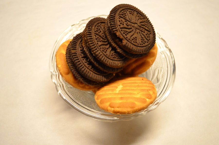 biscuit, chocolate, cookie, food, glass bowl, sweet