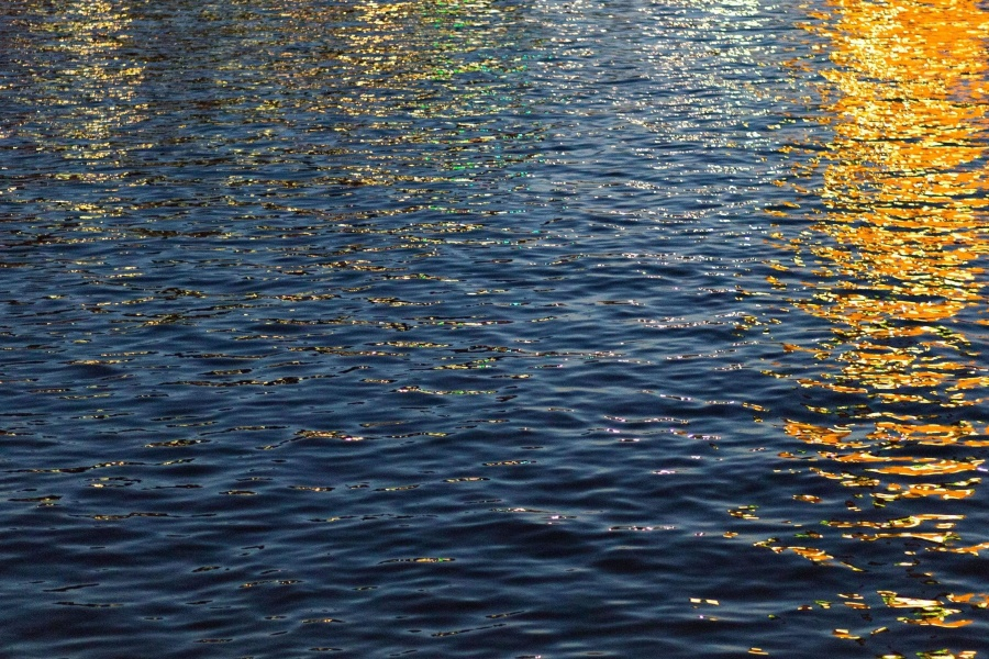sunset, water, reflection, dusk, horizon, ocean, wave