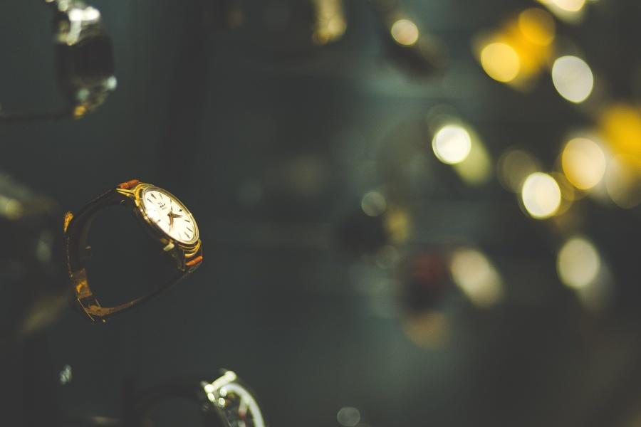 Oro, lujo, moda, reloj analógico, reloj de pulsera
