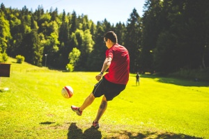football player, soccer, ball, sport, recreation