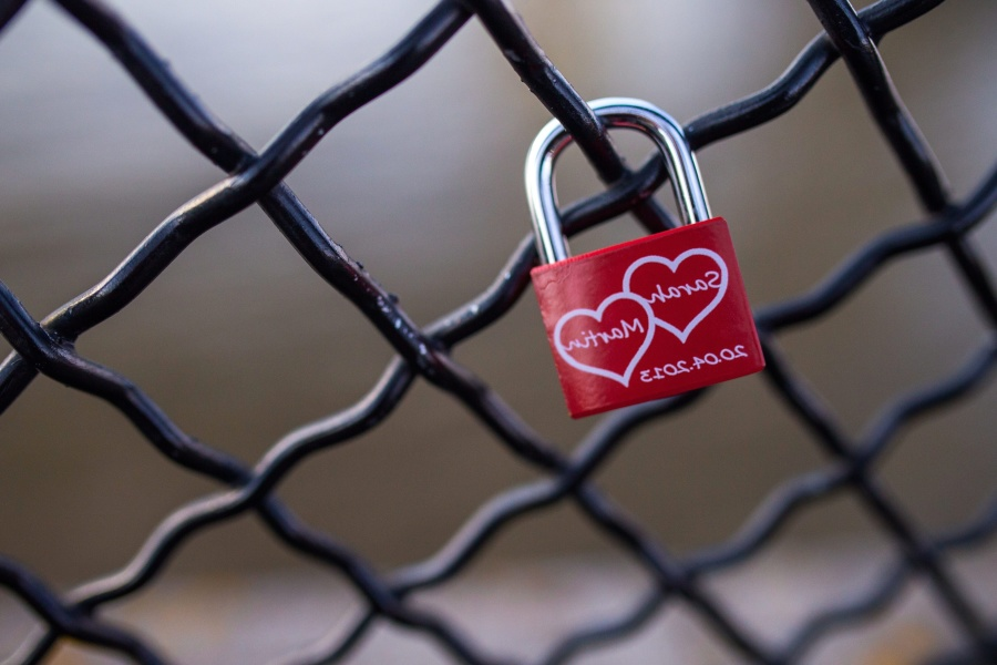 love, bridge, fence, padlock, romance, steel, object