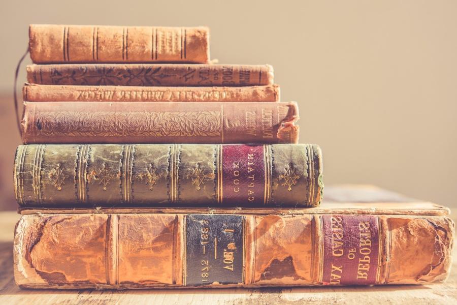 antique, book, old, bookshelf, colorful
