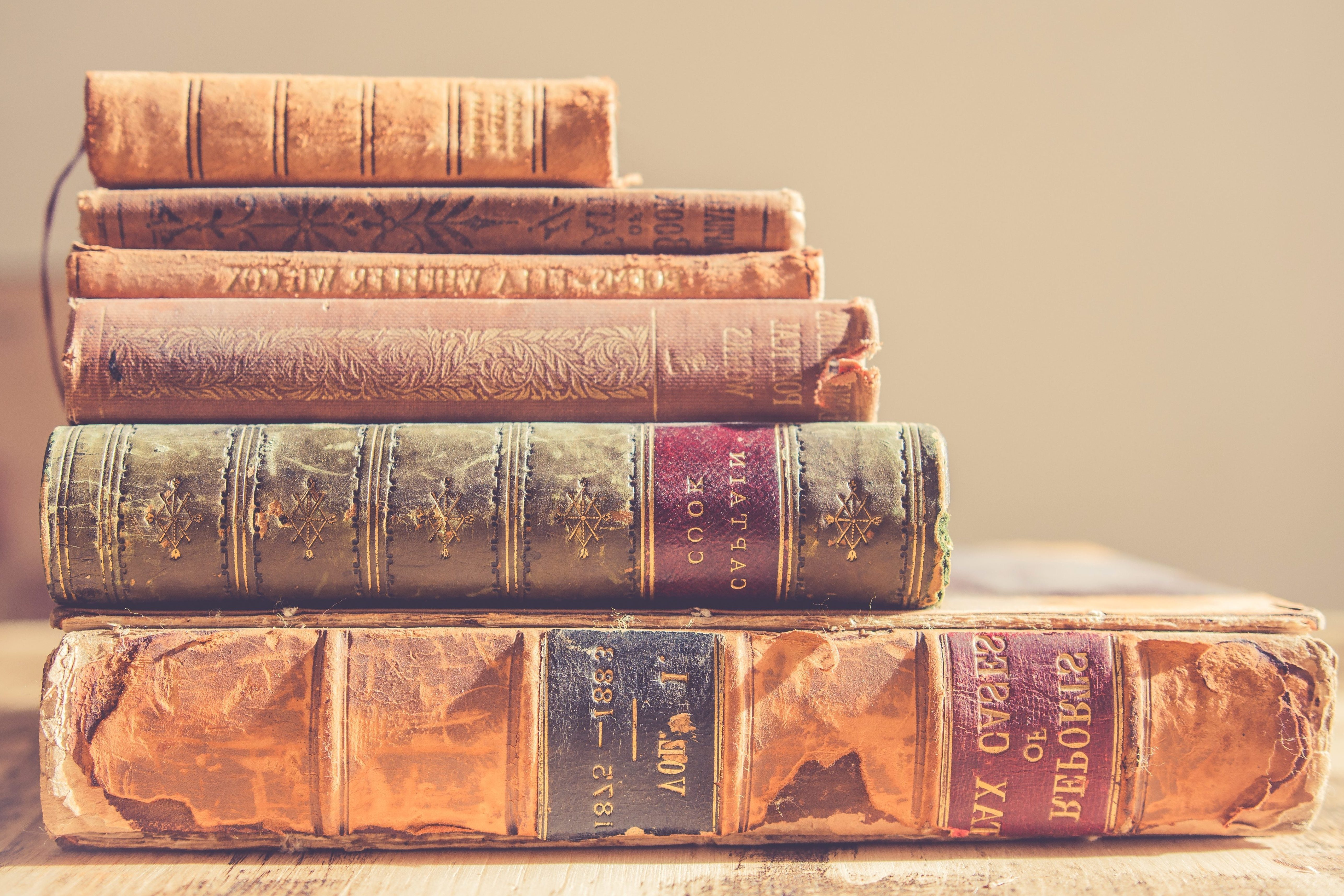 Free picture: antique, book, old, bookshelf, colorful