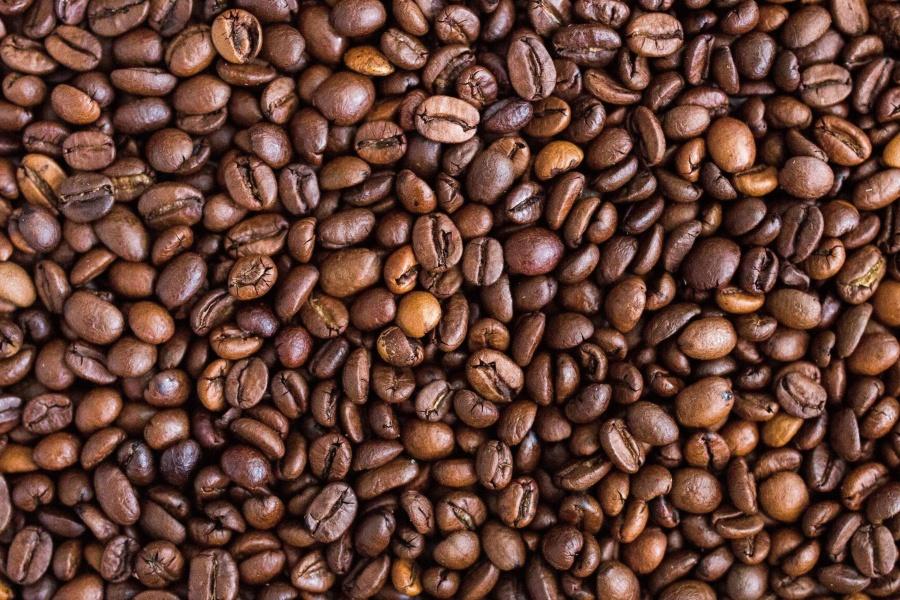 Coffee bean, zaad, gebraden, bruin, geur