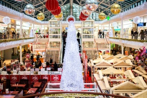 toy shop, supermarket, decoration, christmas tree, interior, shop
