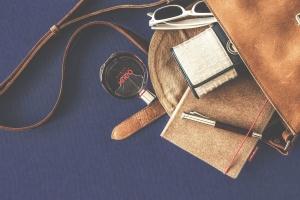 слънчеви очила, кафяво, кожа, чанта, мода, чанта, портфейл