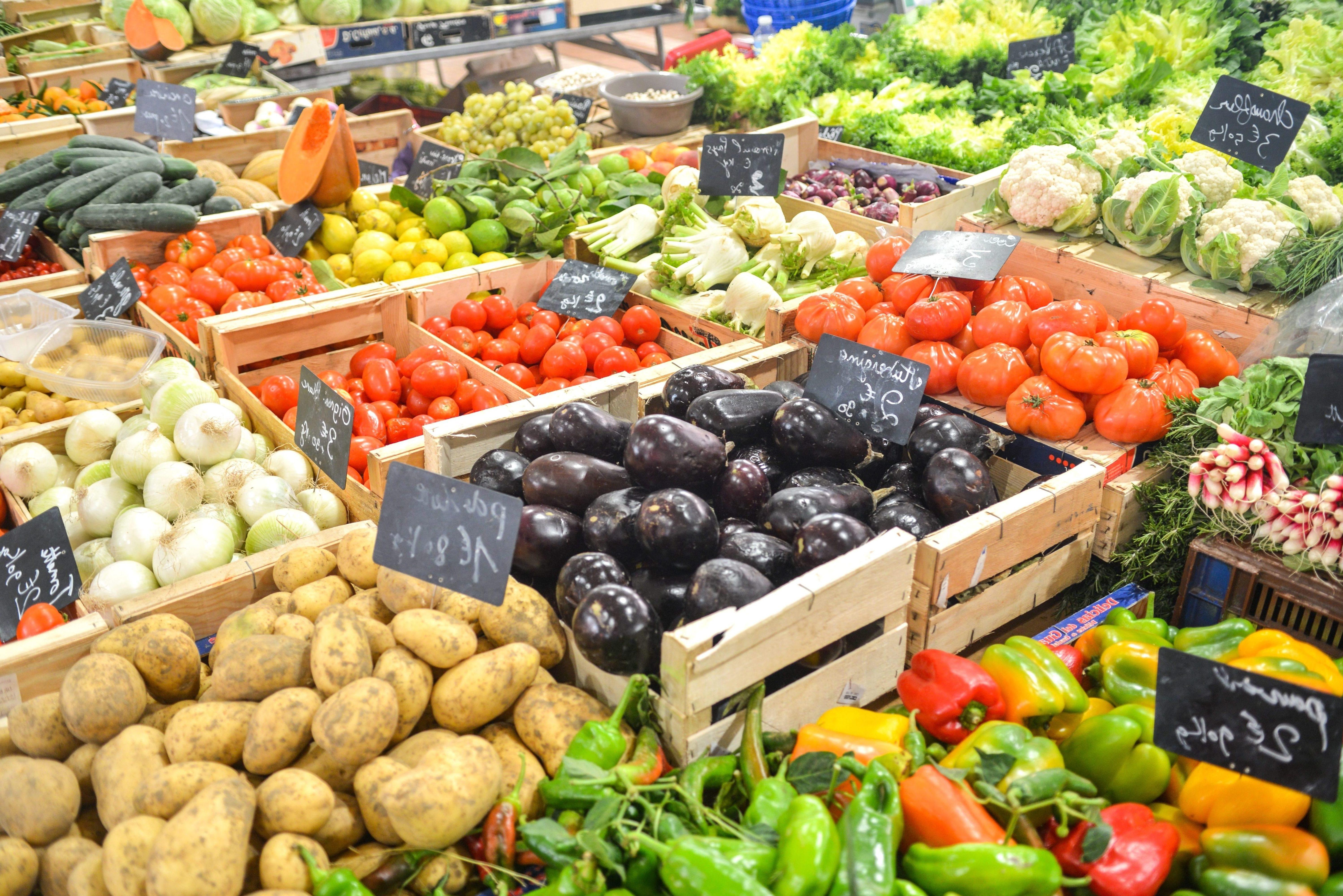 Free Picture Vegetable Market Potato Tomato Onion