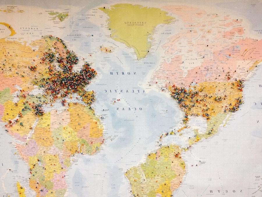 Coğrafya, Dünya Haritası, topografya, kıta, haritacılık