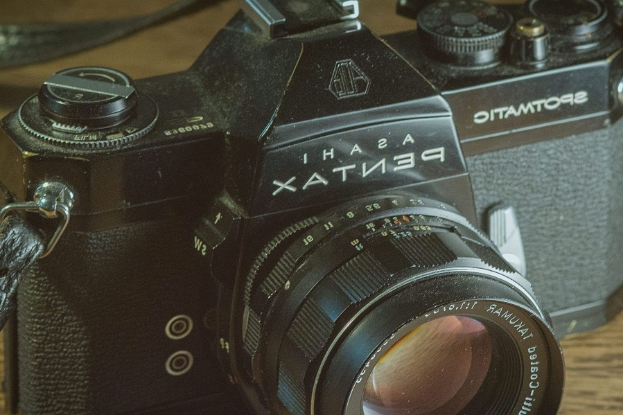 analog, photo camera, lens, black, equipment