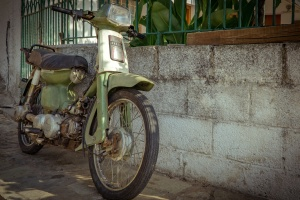 Viejo, motor, scooter, vehículo, ciclomotor, motocicleta, oldtimer