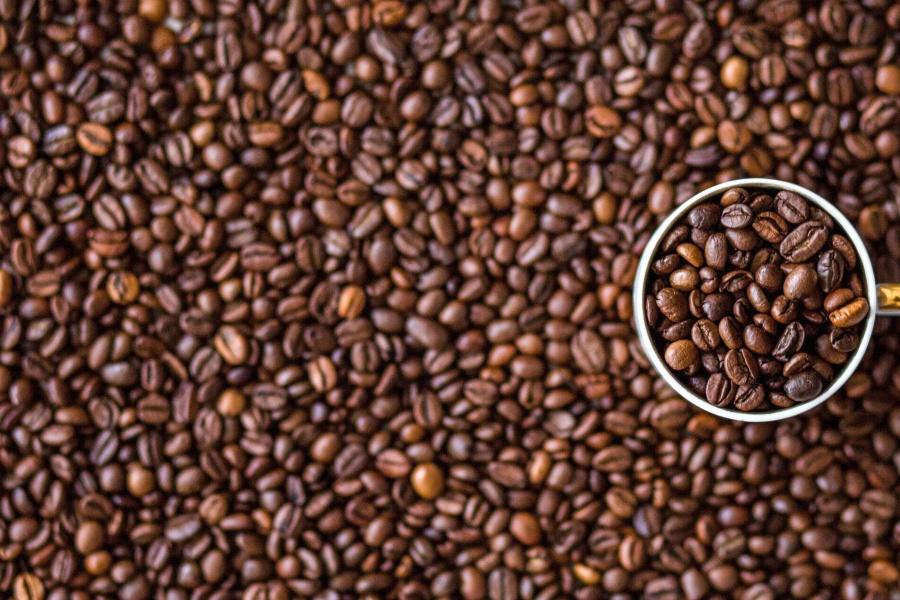 Grain de café, tasse à café, tasse, graine, détail, arôme