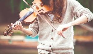 woman, artist, violin, music