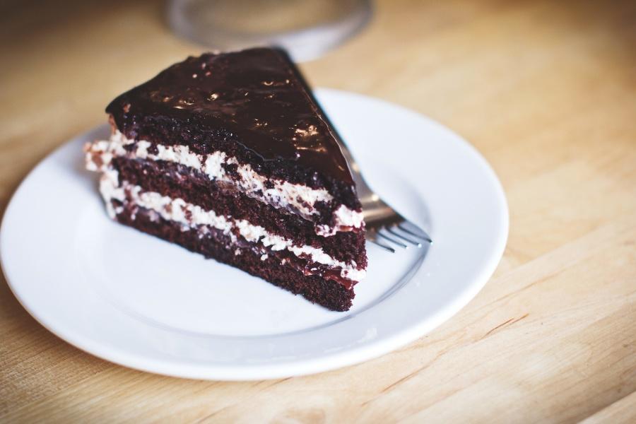 sjokoladekake, sjokolade, mat, dessert, søt, brun