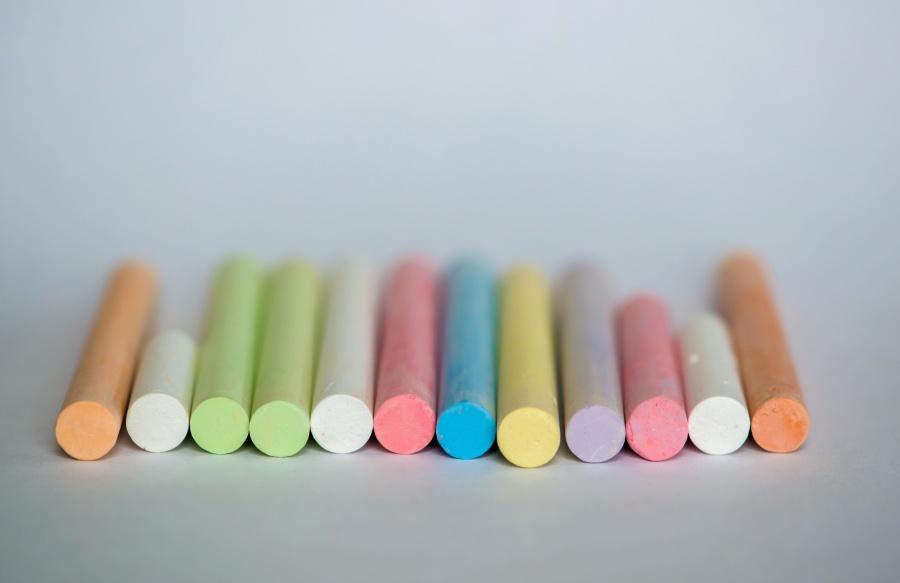 fargerik, kritt, hvitt kritt, farge