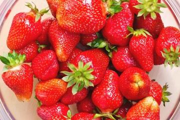 Fruta, fresco, fresa, cuenco, alimento, baya, dulce, postre, dieta