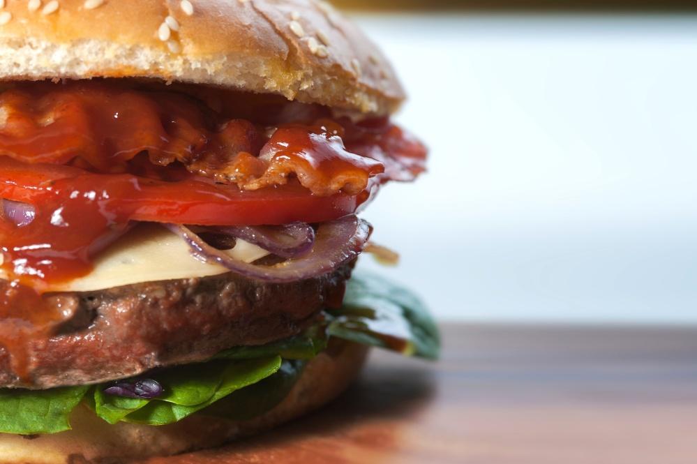 Hamburger, panino, cibo, maionese, pasto, lattuga, pomodoro, carne