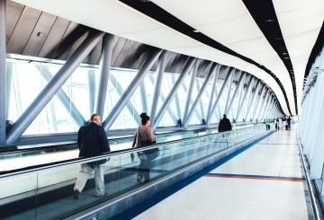 ljudi, do zračne luke, putovanja, interijera, moderno, gradnja