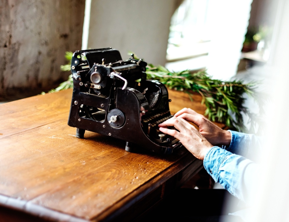 antique, machine, object, old, typewriter, retro, hand, work