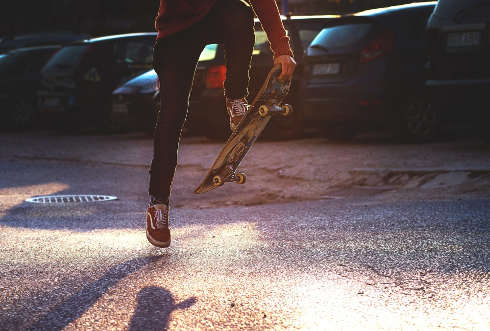 extreme sport, skateboard, joy, fun, street
