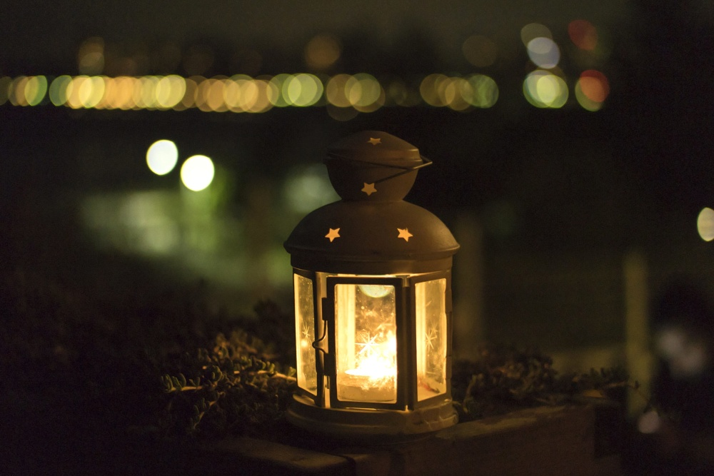 lantern, light, night, dark, decoration, object, antique