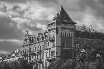 exterior, castle, palace, architecture, city, town, landmark, monument