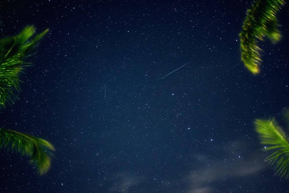 zvijezda, noć, nebo, galaksije, mrak