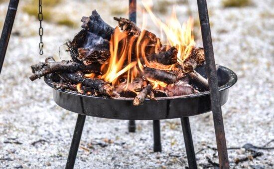 fire, barbecue, flame, firewood, coal