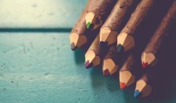 træ, farve, blyanter, objekt, farverige