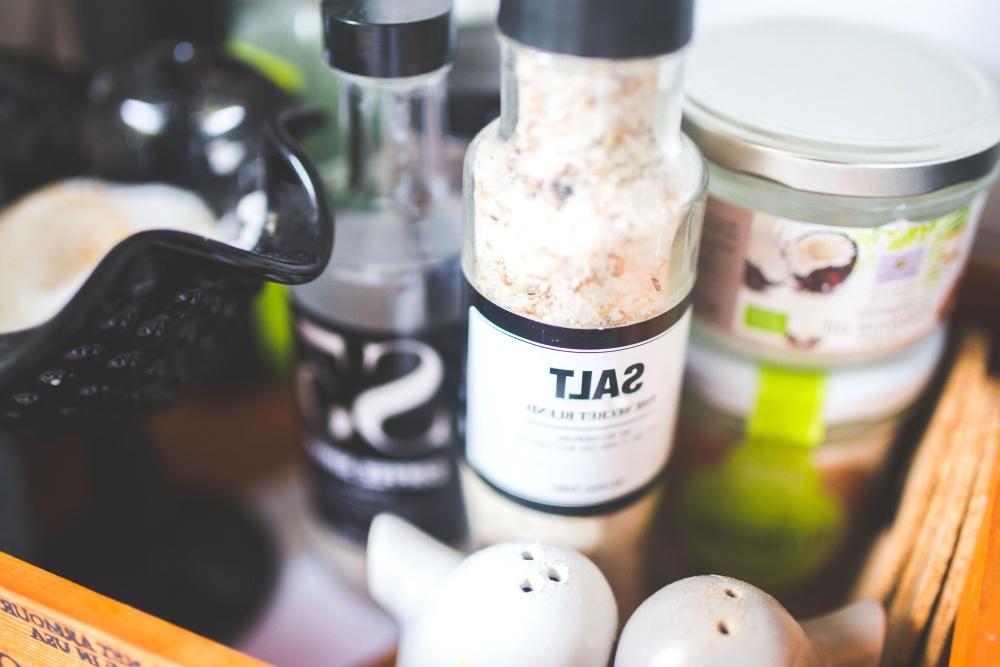 salt, spice, cooking, bottle, kitchen table