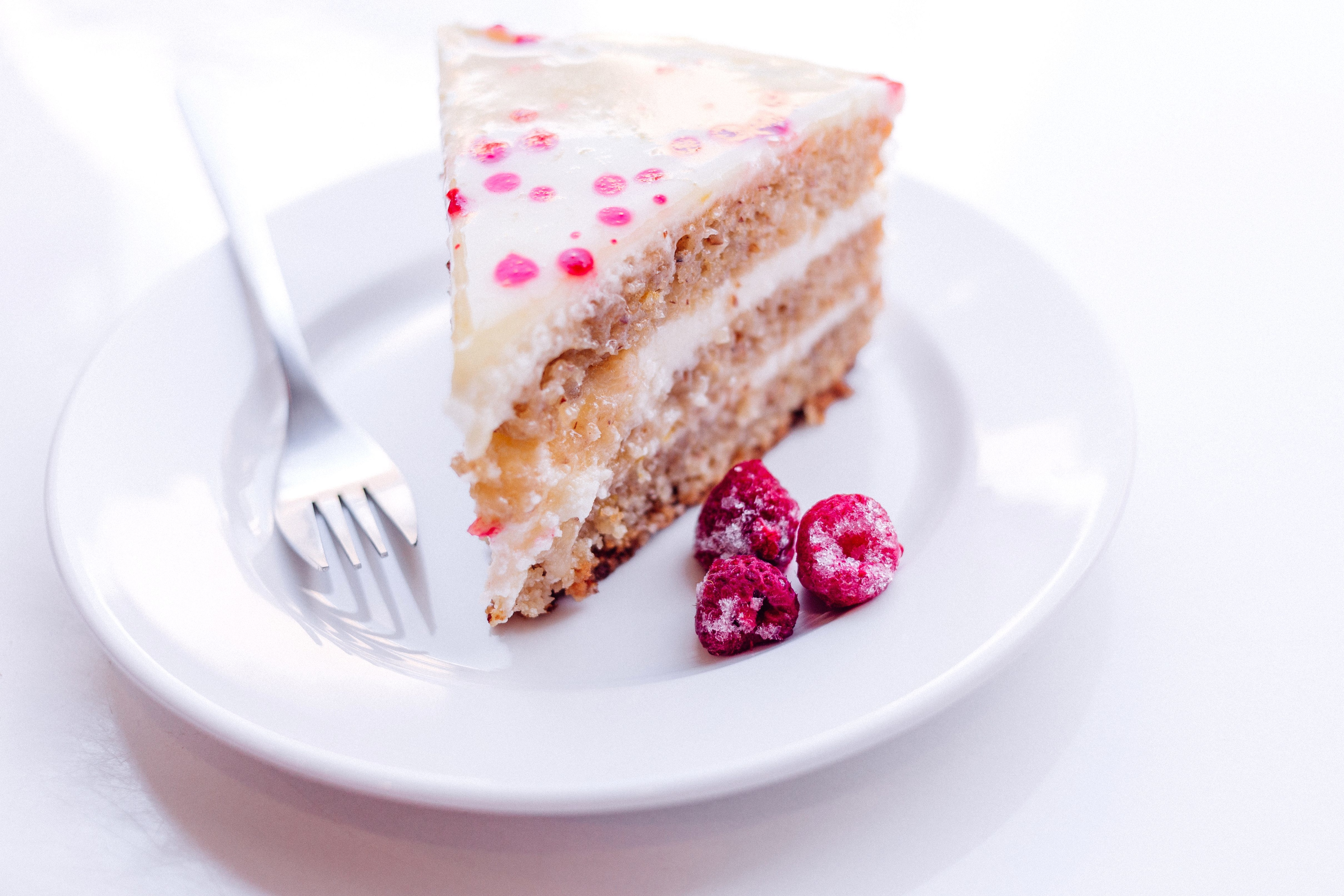 Free Picture Raspberry Cake Fork Food Dessert Meal