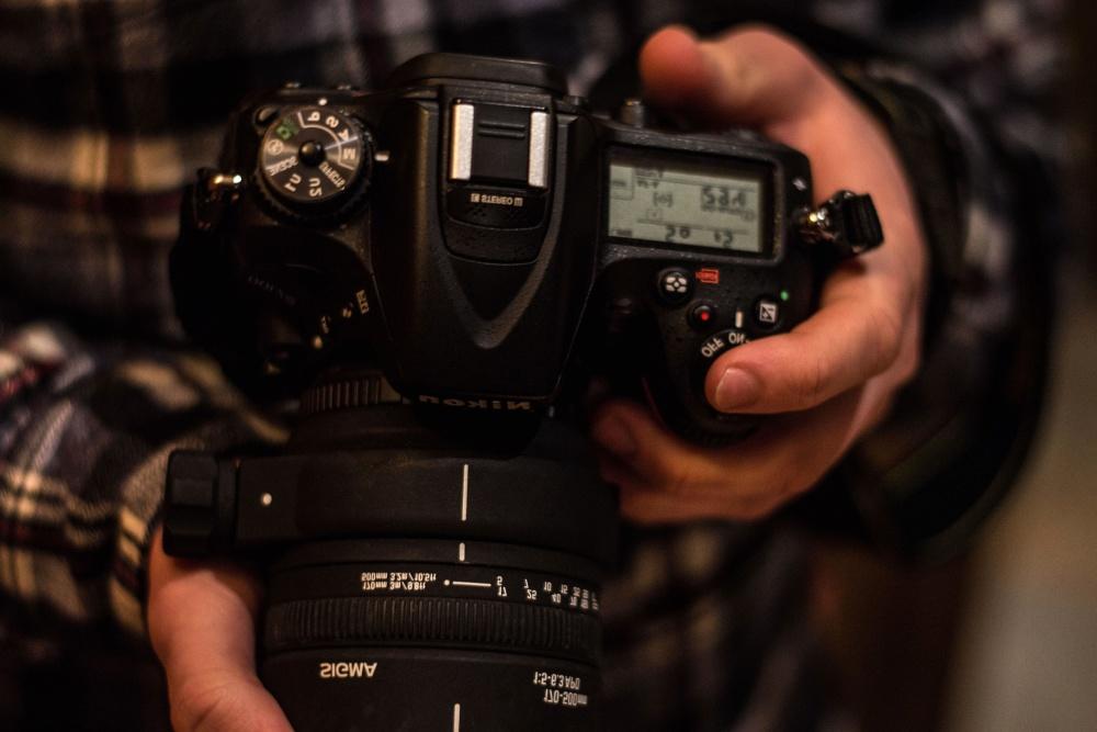photo camera, setting, hand, equipment, photographer