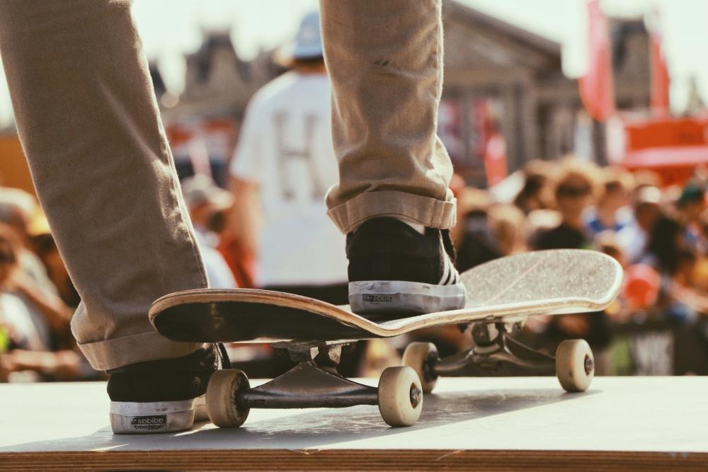 skateboard, sneakers, extreme sport, ramp
