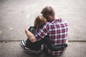 Jugendlicher, gefühl, liebe, freund, gielfriend, romanze, glücklich