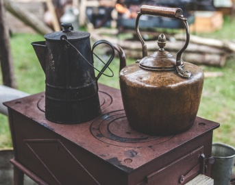 starinski, kuhalo za vodu, štednjak, objekt, starinski, stari