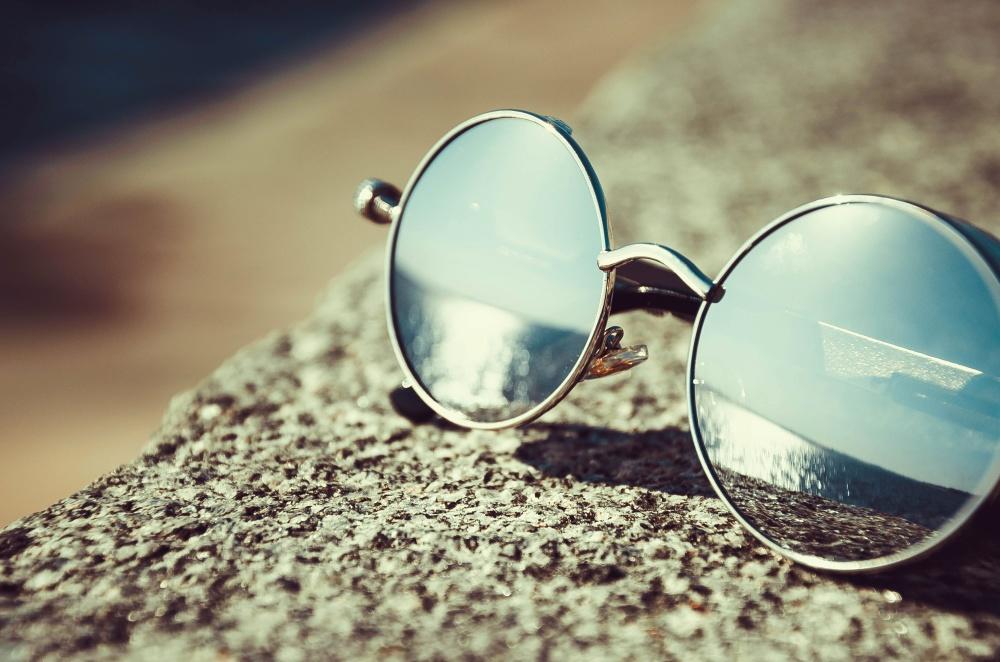 sunglasses, mirror, reflection, object, summer