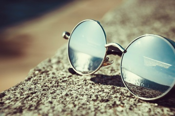 sunglasses, mirror, reflection, object, summer