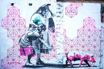 pink, graffiti, wall, design, artwork