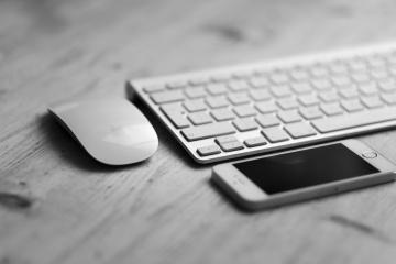 휴대 전화, compter 키보드, 장치, 기술, 인터넷, 장비