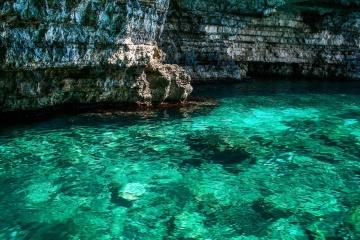 víz, szikla, tenger, tengerpart