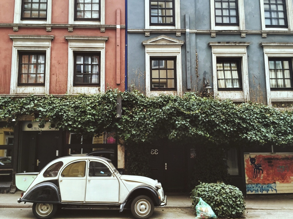 classic car, oldtimer, street, house, architecture, exterior