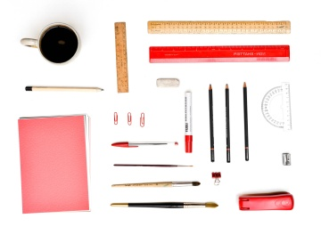 Outil, bureau, crayon, objet, équipement, crayon