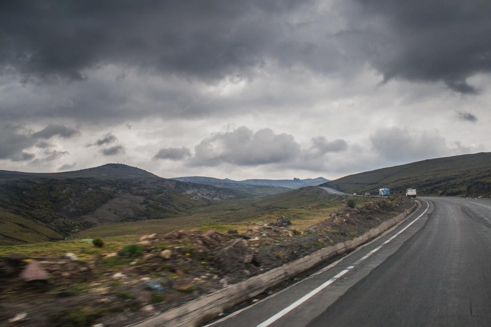 road, cloud, mountain, asphalt, landscape