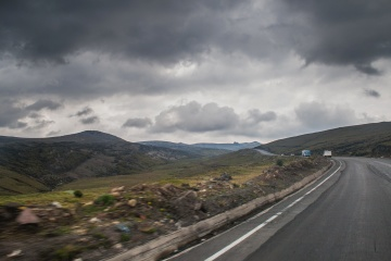 road, cloud, mountain, asphalt, landscape