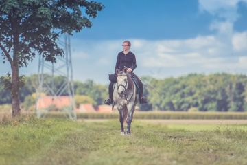 girl, horse, field, old, recreation, grass, summer, rural