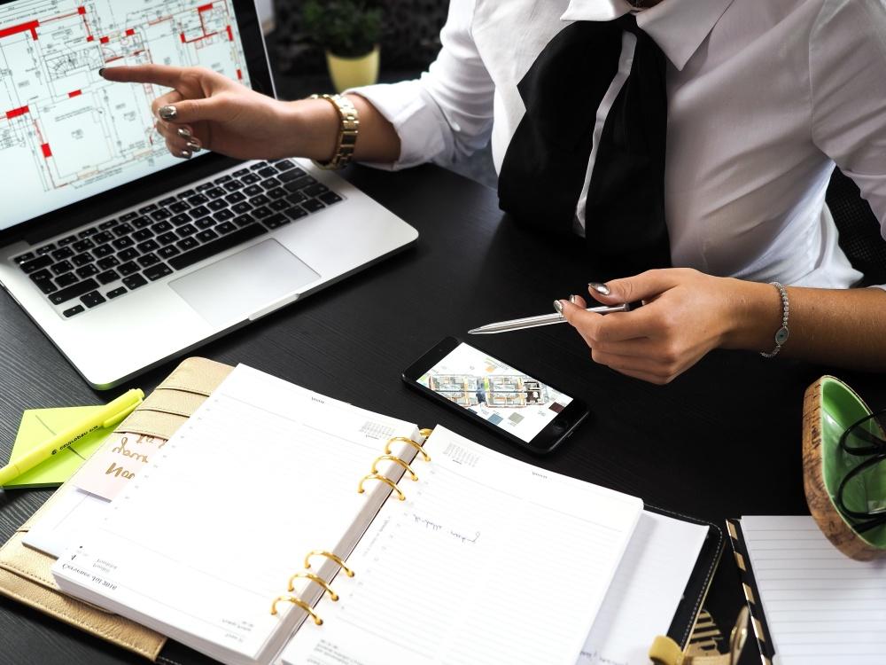 business, businesswoman, laptop computer, work, office